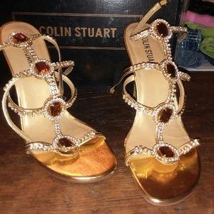 Colin Stuart Gold Gladiator heels
